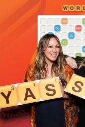 "Hilary Duff and Haylie Duff - ""Words with Friends 2"" Launch Party Photo Booth in West Hollywood 11/09/2017"