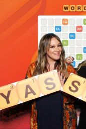 """Hilary Duff and Haylie Duff - """"Words with Friends 2"""" Launch Party Photo Booth in West Hollywood 11/09/2017"""