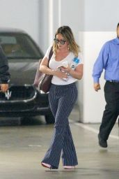Hilary Duff Casual Style - Visiting an Office in Beverly Hills