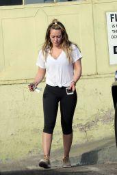 Hilary Duff in Leggings - Outside a Gym in LA 11/07/2017