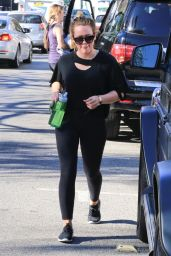 Hilary Duff in Tights - Hits the gym in Studio City 11/14/2017