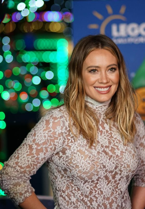 Hilary Duff - Lights the LEGO Christmas Tree at LEGOLAND California resort