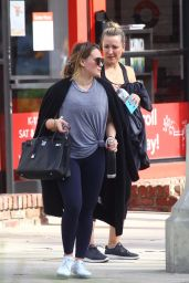 Hilary Duff Street Style - Hits the Gym in LA 11/13/2017