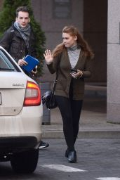 Holland Roden - Leaves Her Hotel in Warsaw 11/25/2017
