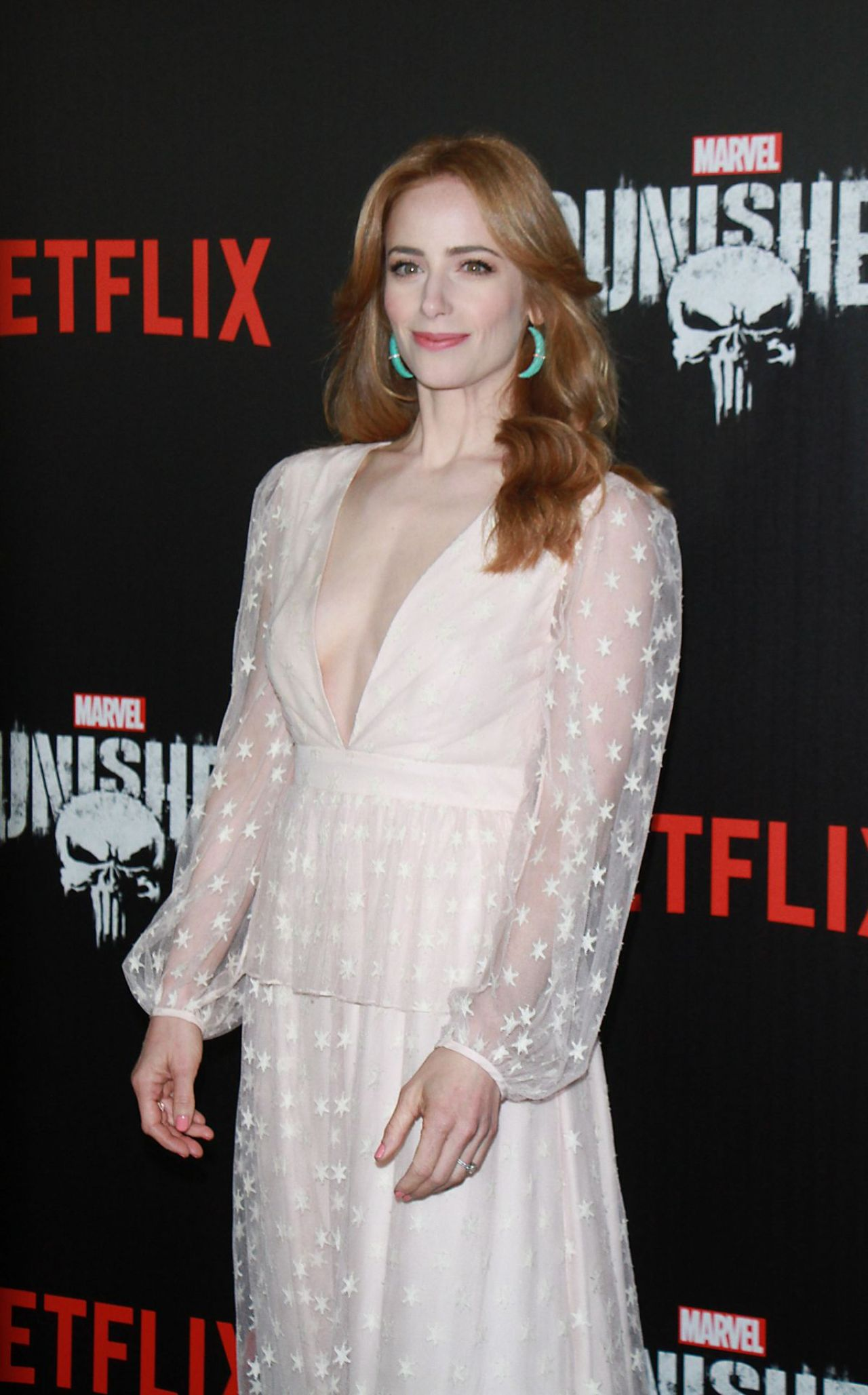Jaime Ray Newman Marvel S The Punisher Premiere In New