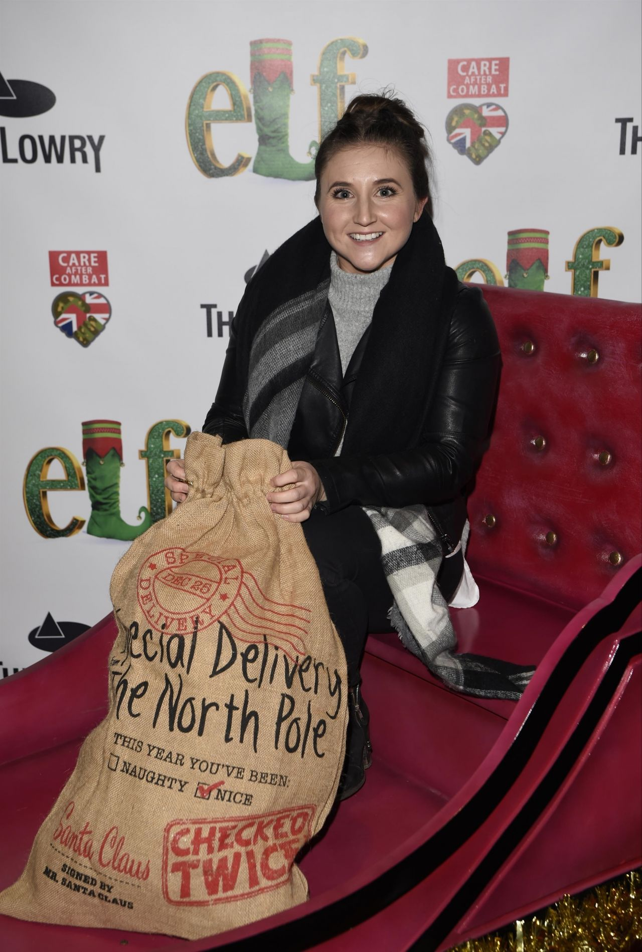 Jazmine Franks – Elf The Musical Press Night and Gala Performance in Manchester