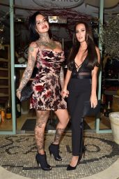 Jemma Lucy and Yazmin Oukhellou - Leaving San Carlo Restaurant in Manchester 11/12/2017