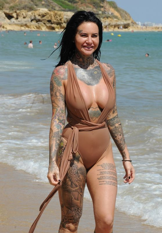 Jemma Lucy in Swimsuit - Lanzarote Island 11/13/2017