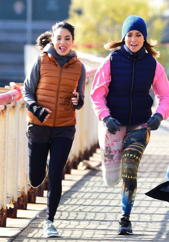 """Jennifer Lopez and Vanessa Hudgens - """"Second Act"""" Set in NYC 11/27/2017"""