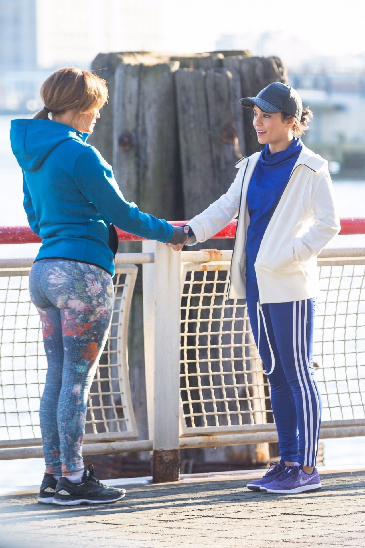 Jennifer Lopez And Vanessa Hudgens Set Of Second Act