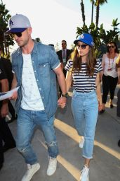 Jessica Biel and Justin Timberlake - Arrive for Astros vs. Dodgers World Series Game 2 in LA 11/25/2017