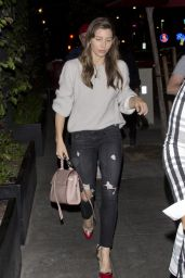 Jessica Biel Night Out - The Dream Hollywood Hotel in Hollywood 11/15/2017