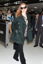 Jessica Chastain in Travel Outfit - Narita International Airport 11/26/2017