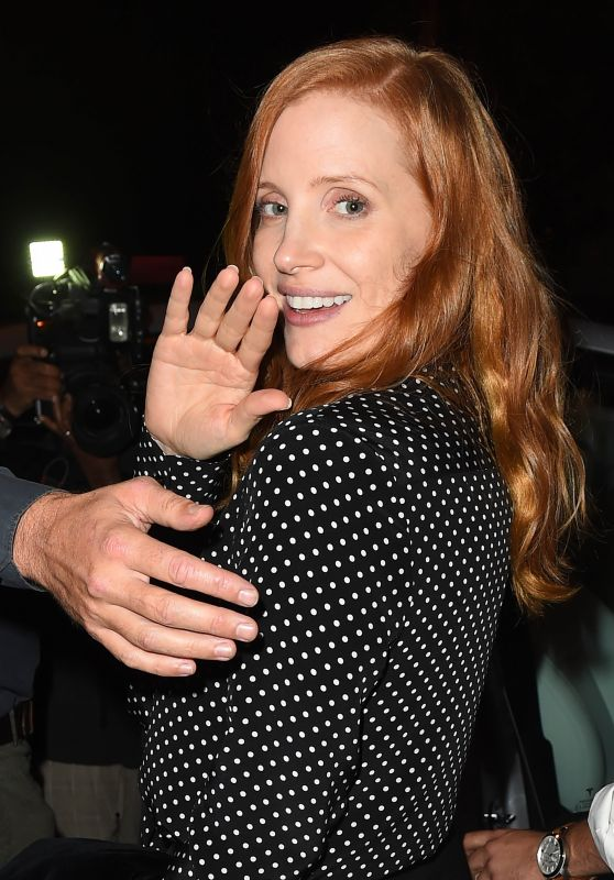 Jessica Chastain - Leaving Catch Restaurant in LA 11/05/2017