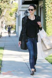Jordana Brewster - Shopping in Beverly Hills 11/09/2017