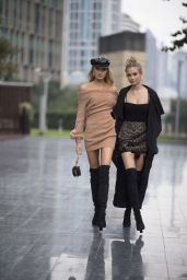 Josephine Skriver and Romee Strijd - Shanghai, China 11/22/2017