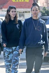 Kaia Gerber in Camouflage Pants - Out in Malibu 11/27/2017