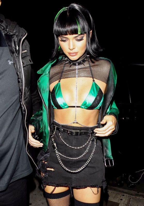 Kendall Jenner as Powerpuff Girl Buttercup - Halloween Party in West Hollywood 10/31/2017