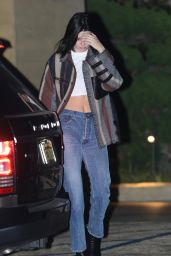 Kendall Jenner Camera Shy - Out for a Sushi Dinner in LA 11/14/2017
