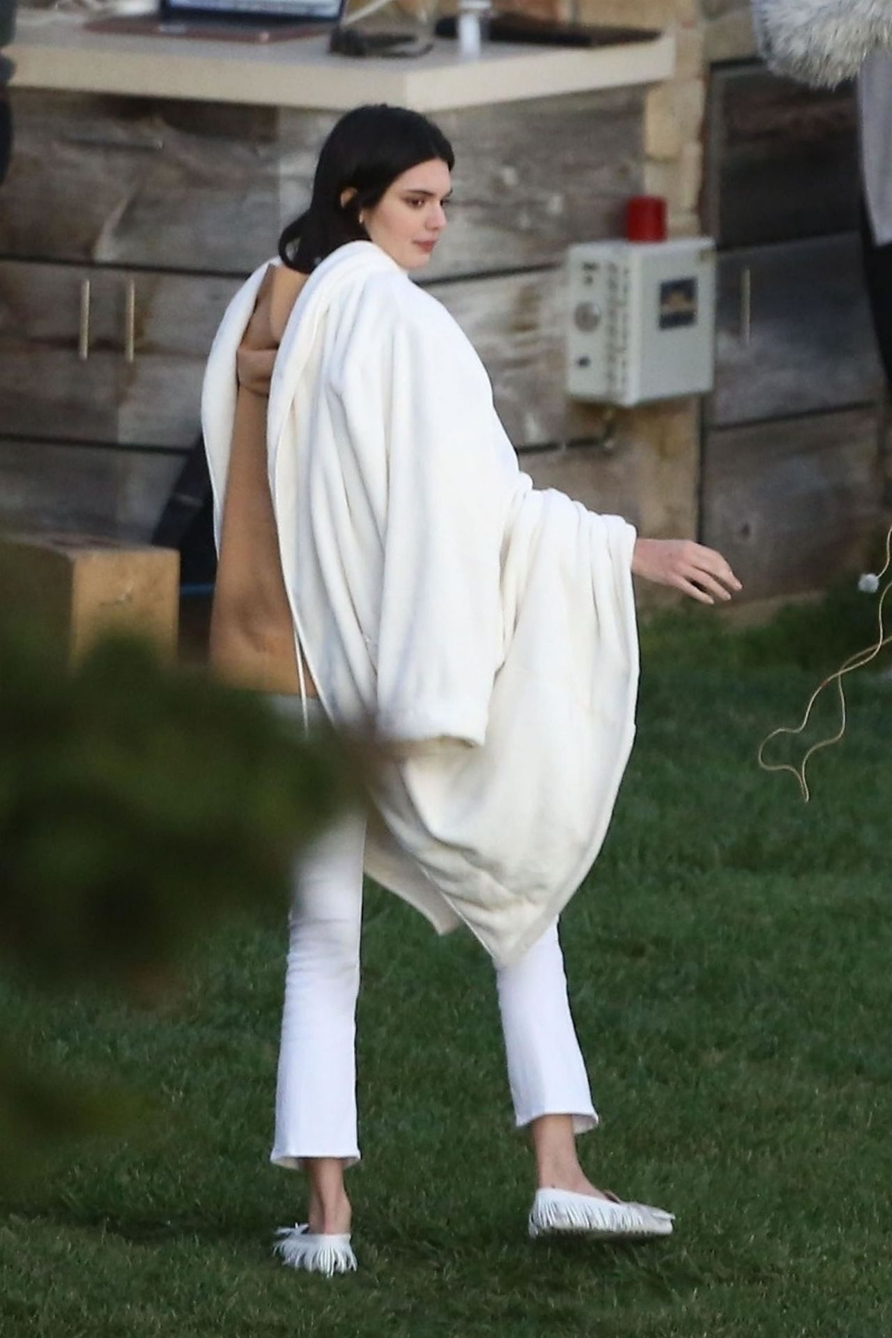 Kendall Jenner Candids On The Set Of A Photoshoot In