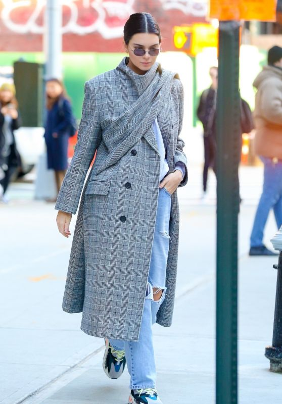 Kendall Jenner Wearing Balenciaga Coat - New York City 11/20/2017