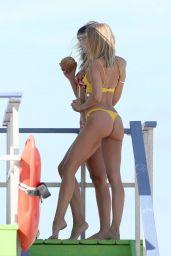 Kimberley Garner in a Yellow Bikini - Miami 11/01/2017
