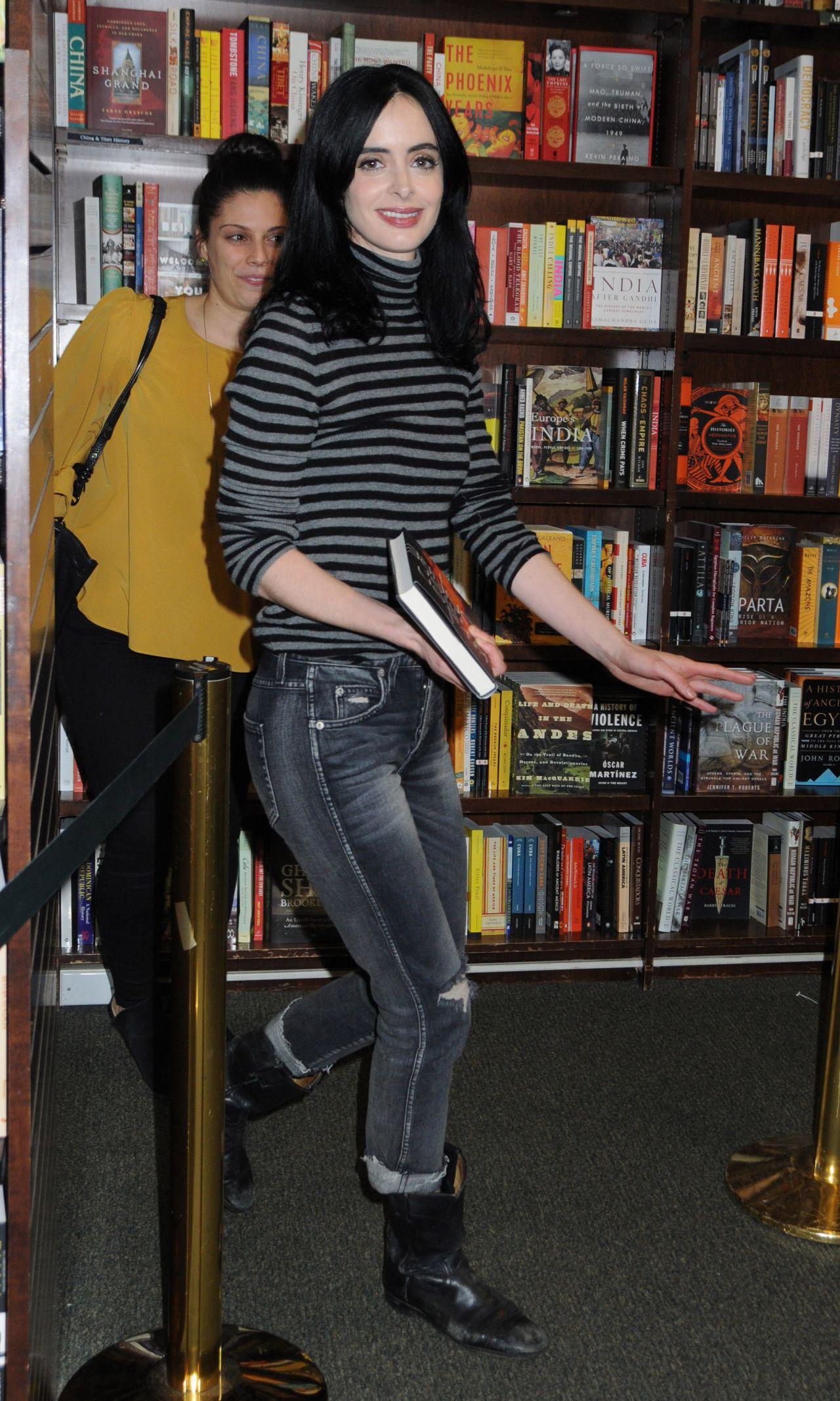 """Krysten Ritter - Fan Event for New Book """"Bonfire"""" in NYC ..."""