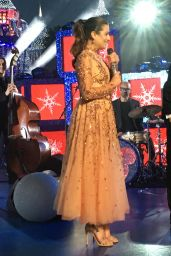 Lea Michele - Performs on Stage for a ABC TV Christmas Special in Anaheim