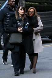 """Leah Remini - Arrives on Set for """"Second Act"""" in NYC 11/20/2017"""