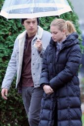 Lili Reinhart and Cole Sprouse - Filming an Episode of Riverdale in Vancouver 11/14/2017
