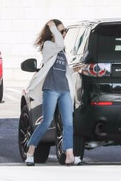 Lily Collins - Fills Up Her Car at a Gas Station in LA 11/18/2017