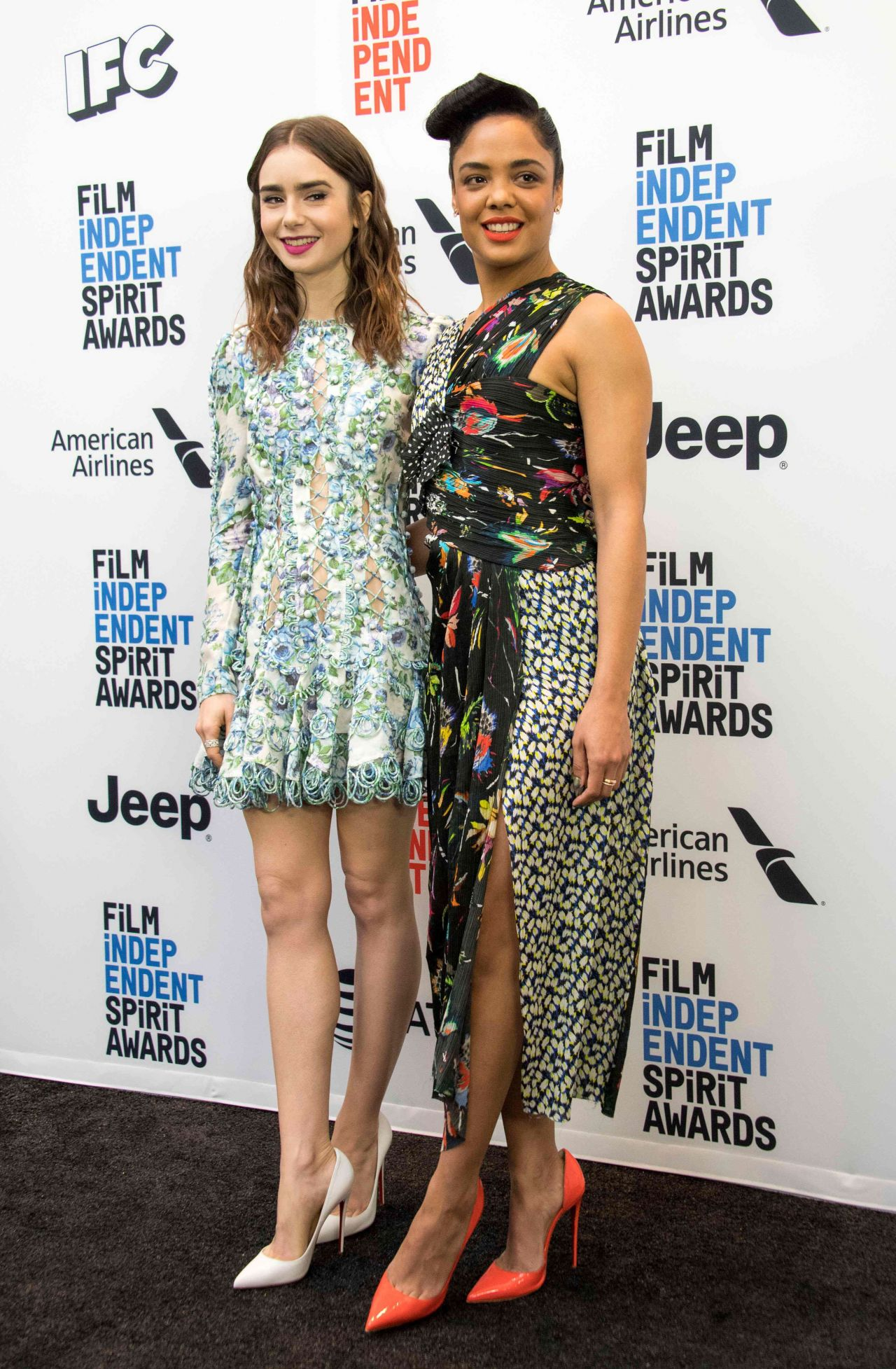 Lily Collins - Film Independent 2018 Spirit Awards Press Conference in West Hollywood 11/21/2017