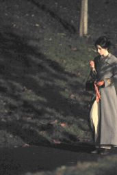 "Lily Collins - ""Tolkien""Movie Set in Liverpool 11/01/2017"