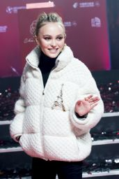 Lily Rose Depp - Champs Elysees Christmas Lights Launch in Paris 11/22/2017