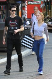 Lily-Rose Depp - Shopping at The Grove in West Hollywood 11/03/2017