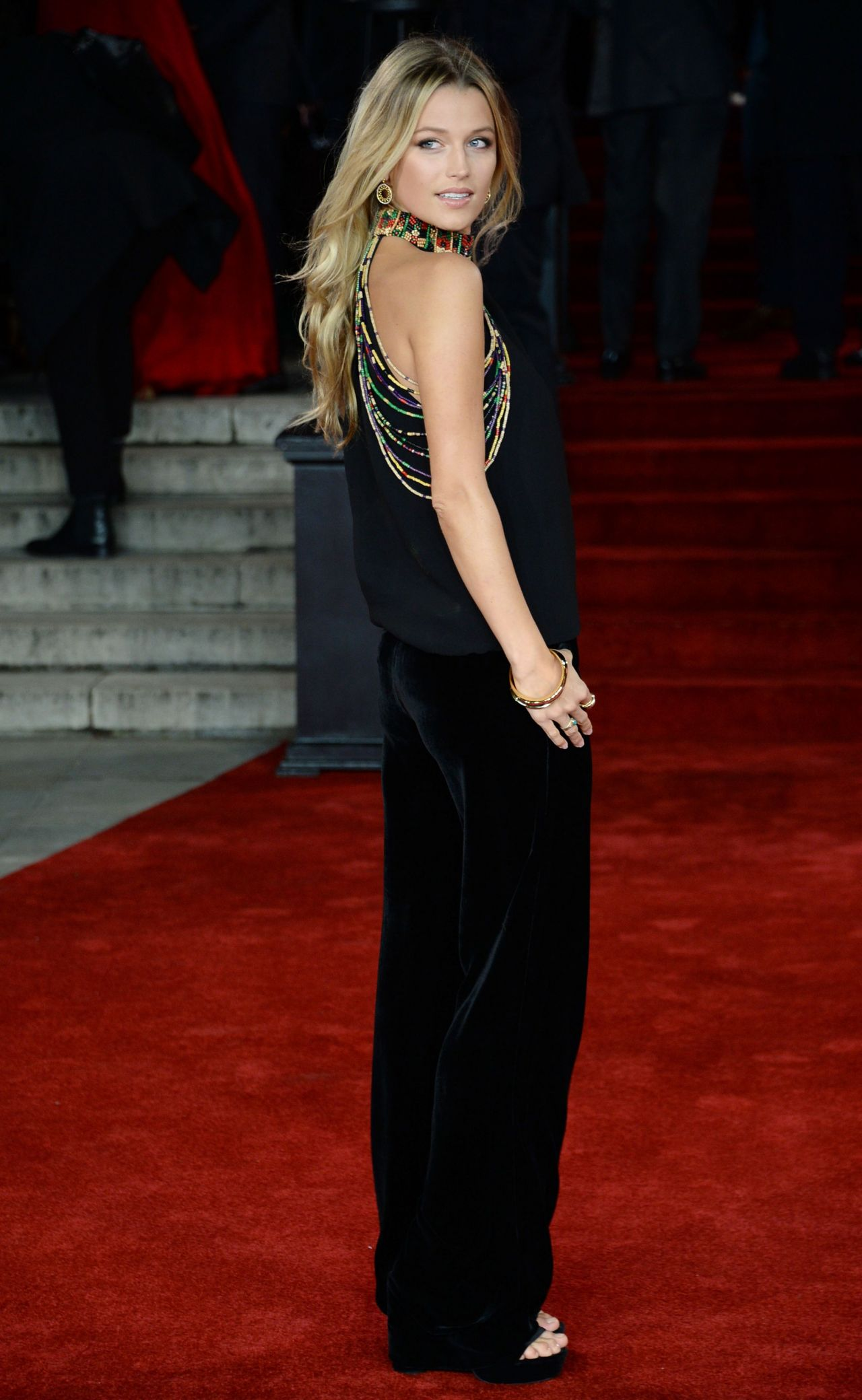 Lily Travers Murder On The Orient Express Red Carpet
