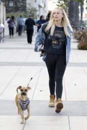 Lorraine Gilles - Walking Her Dog in Los Angeles 11/09/2017
