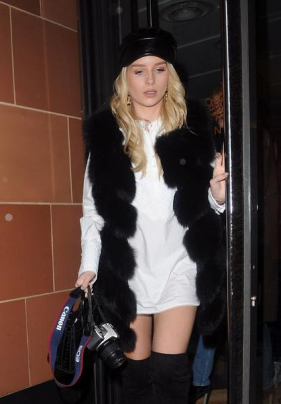 Lottie Moss - Leaving C Restaurant in London 11/14/2017