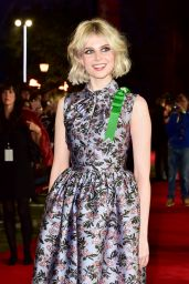 """Lucy Boynton – """"Murder on the Orient Express"""" Red Carpet in London"""