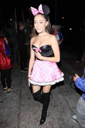 Madison Beer as Minnie Mouse - Delilah Club in Hollywood 10/31/2017