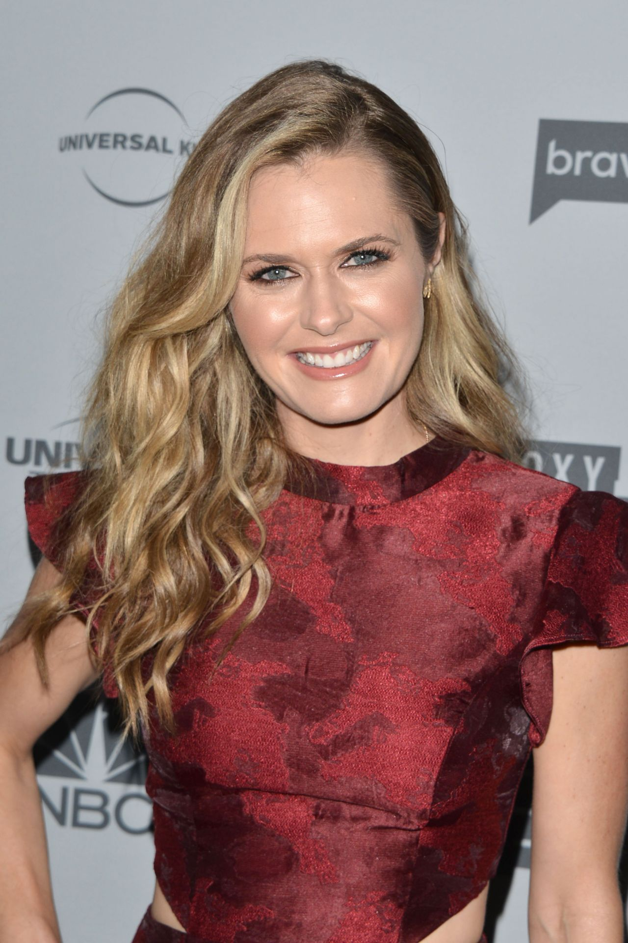 Maggie Lawson Nbcuniversal Holiday Kick Off Event In La