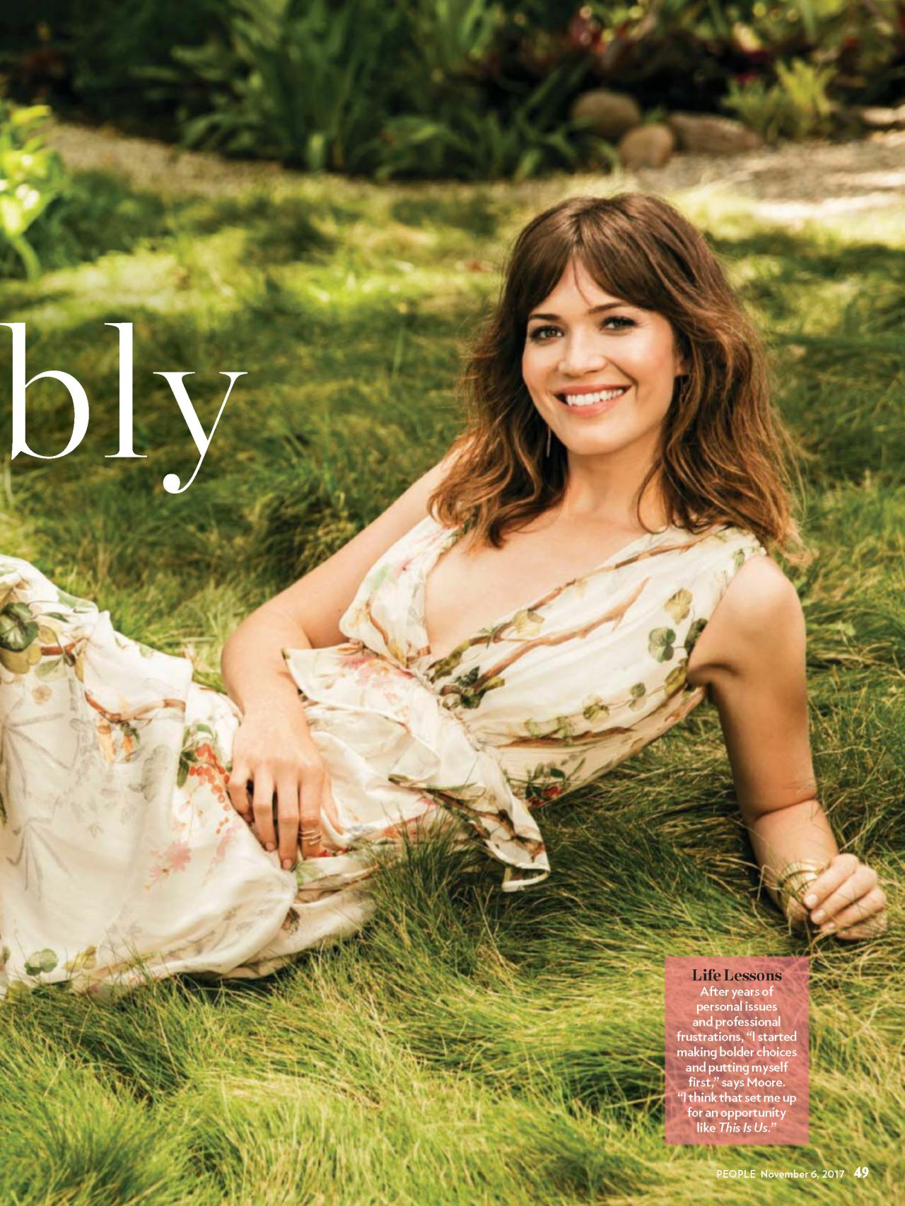 Mandy Moore People Magazine Usa November 6th 2017 Issue
