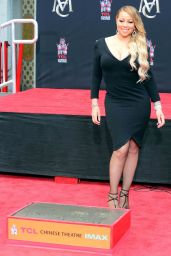 Mariah Carey - Hand and Footprint Ceremony in Hollywood 11/01/2017