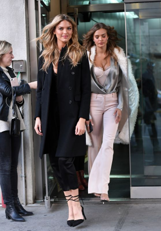 Martha Hunt and Josephine Skriver - Leaving CBS Studios in NYC 11/27/2017