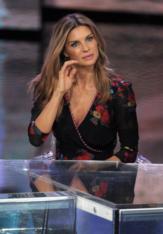 """Martina Colombari - TV Chat-Show """"Che fuori tempo che fa"""" at Rai Uno Channel 11/19/2017"""