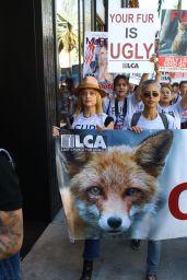 Mena Suvari - Anti-Fur Protest in Los Angeles 11/24/2017