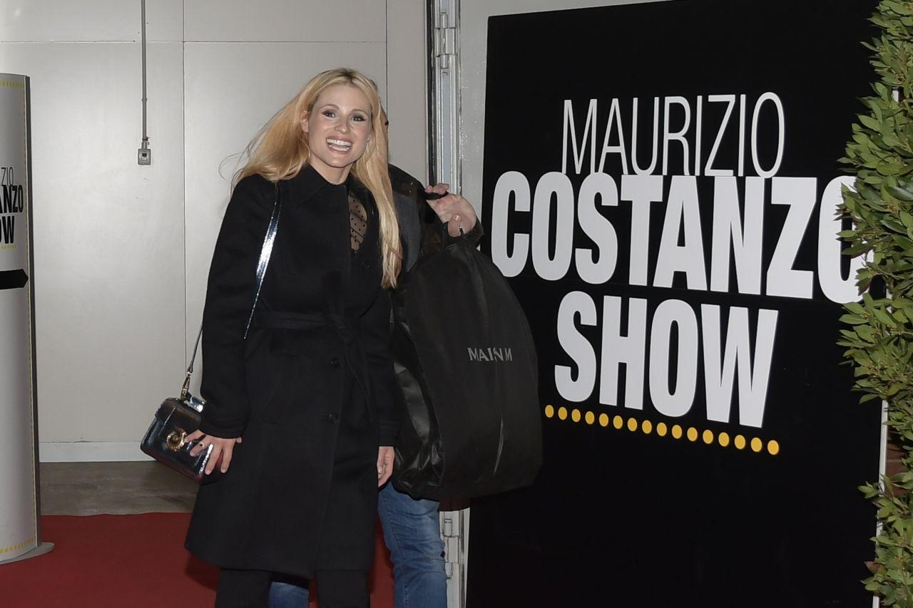Michelle Hunziker - Maurizio Costanzo Show Episode 2 in Rome 11/15/2017