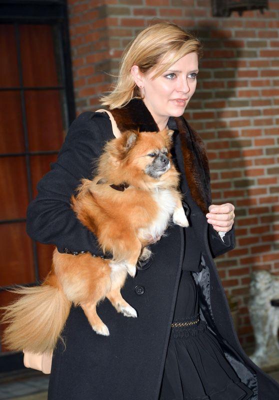 Mischa Barton Carries Her Dog - NYC 11/14/2017