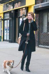 Mischa Barton - Walking Her Dogs in Manhattan, NYC 11/13/2017