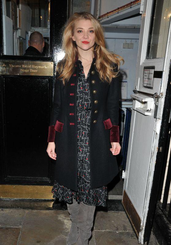 Natalie Dormer - Leaving The Haymarket Theatre in London 11/23/2017